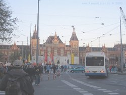 Autobus ad Amsterdam Centraal Station
